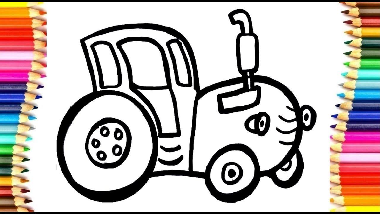 Раскраска для детей Трактор #87   Мультик - Раскраска ...