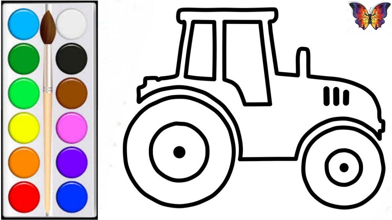 Как нарисовать ТРАКТОР ИГРУШКУ/ мультик раскраска ТРАКТОР ...
