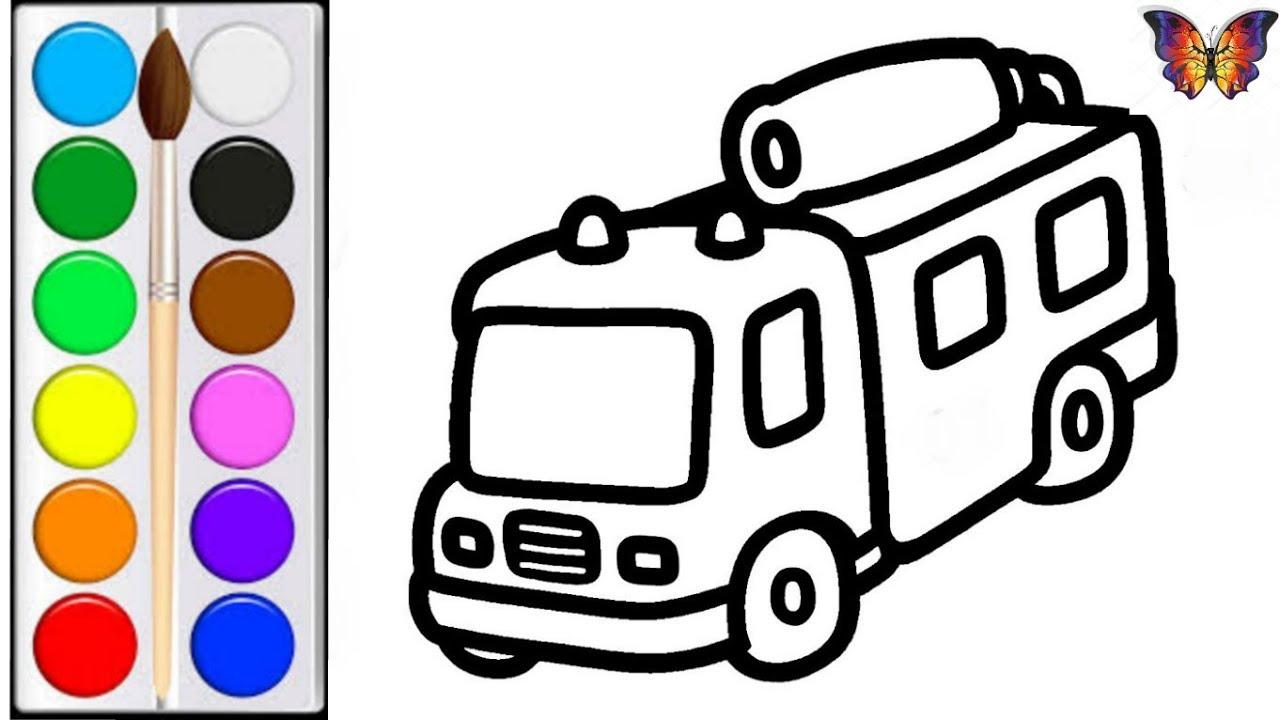 Как нарисовать ПОЖАРНУЮ МАШИНУ / мультик раскраска ...