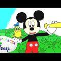Раскраска Disney - Клуб Микки Мауса   Изучаем цвета с героями мультфильмов для детей. Выпуск 11