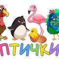 Птички - Развивающие мультики для детей малышей про птиц - аист, курица, сова