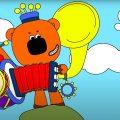 Раскраска МИ-МИ-МИШКИ - 🧸 Лучшие друзья Мишки Учим Цвета!