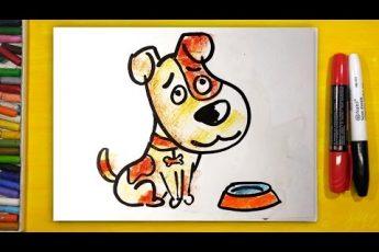 Как нарисовать СОБАКУ, Урок рисования для детей от 3 лет | Раскраска для детей