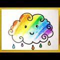 Веселое Цветное ОБЛАЧКО РАДУГА / Урок рисования для детей