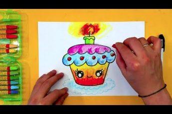 ТОРТИК просто рисуем / Урок рисования для детей от 4 лет