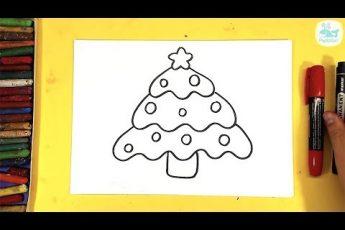 Как нарисовать ЕЛКУ для детей / урок рисования МЕЛКАМИ