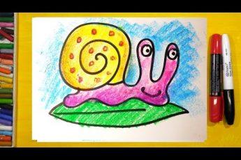 Как нарисовать УЛИТКУ, Урок рисования для детей от 3 лет, видео для детей