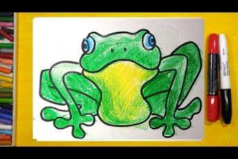 Как нарисовать ЛЯГУШКУ, Урок рисования для детей от 3 лет
