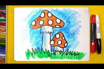 Как нарисовать ГРИБ МУХОМОР / Урок рисования для детей от 3 лет