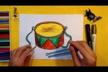 Как нарисовать БАРАБАН / Урок рисования для детей от 3 лет