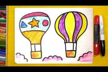 Как нарисовать ВОЗДУШНЫЙ ШАР / Урок рисования для детей
