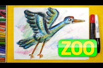 Как нарисовать Аиста | Урок рисования для детей | Рисунки поэтапно