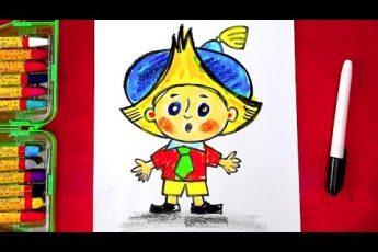 Как нарисовать НЕЗНАЙКУ - урок рисования для детей