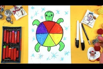 Цветная ЧЕРЕПАХА рисуем просто и полезно