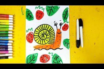 Улитка - Урок рисования на 1 апреля