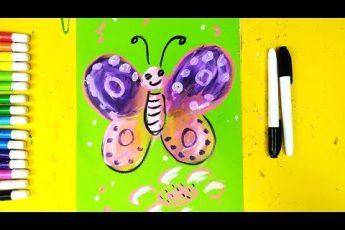 Бабочка на 1 апрелся - урок рисования для детей