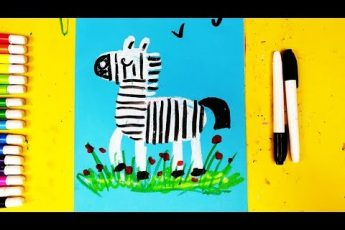 Супер ЗЕБРА рисунок на 1 апрелся для детей