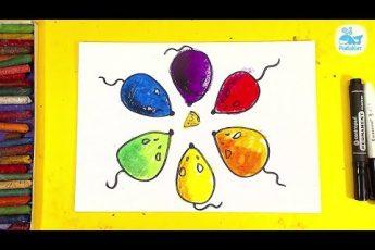 УЧИМ ЦВЕТА и Рисуем МЫШЕК / урок рисования для детей от РыбаКит