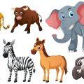 Животные Африки! Учим животных Звуки животных Развивающие мультики для детей + видео про животных