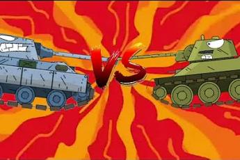 Пантера против Т-34! Мультики про танки!