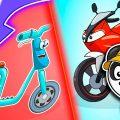 Машинки Биби - Скутер Обогнал Гоночные Мотоциклы - Мультики Про Машинки Для Детей