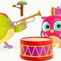 Развивающие мультики Совенок Хоп хоп. Музыкальные инструменты. Сборник для малышей