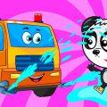 Машинки и Цифры - Биби и Машинки Водовоз - Развивающие Мультики Для Детей
