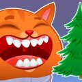 Суровый КОТИК БУБУ №62. Наряжаем елку на Новый Год. Мультик ИГРА про котят на канале Хвостик ТВ