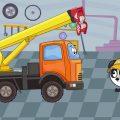 Машинки Биби - Подъёмный Кран и Каток на Стройке - Машинки Помощники