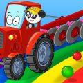 Биби и Машины Помощники - Автовышка Подъемный Кран Трактор на Стройке - Машинки Для Детей
