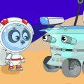 Биби Лети на Луну - Машинки Ракеты Космос - Развивающие Мультики Для Малышей
