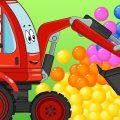ПРО МАШИНКИ - Видео Для Детей - Автовоз Бетономешалка и Биби - Игры в Машинки