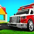 Скорая помощь работает на месте аварии! Развивающие мультики для детей про машинки-помощники