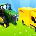 Игрушечные машины-помощники: Трактор, Почтовый Фургон и другие рабочие машины — Для малышей