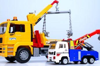 Машины-помощники — Эвакуатор , Желтый Экскаватор и Большой Грузовик — Автомастерская