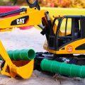 Машинки для детей — Грузовик, Экскаватор и большие машины — Машины-помощники
