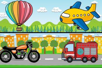 ТРАНСПОРТ для Детей. Машинки и Спецтехника, воздушный и водный Транспорт для малышей. Звуки машин.