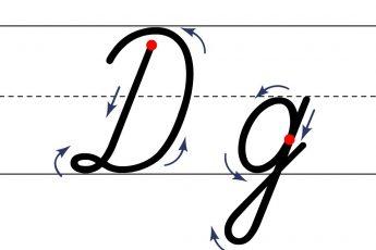 Как пишется буква Д. Пишем букву Д правильно и красиво. Исправляем почерк. Пропись.