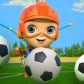 футбольная песня | развивающий мультфильм | потешки | Little Tritans Russia | Детские стишки