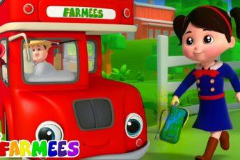 ездить на школьном автобусе | Детские стишки | Farmees Russia | Музыка для детей