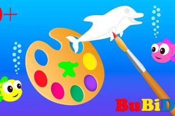 0+ РАСКРАСКА - развивающий мультик от BuBiDu | Развивающие мультики для малышей.