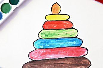 Умная Пирамидка поможет выучить деткам основные цвета на английском языке.