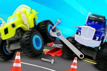Мультфильмы про машинки: Крушила и переполох в автомастерской! Игры для мальчиков в ремонт машин