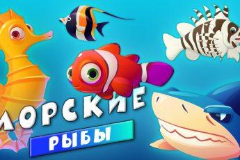 Животные - Морские рыбы для детей - Развивающие видео для малышей