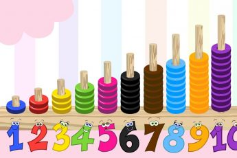 Изучаем цвета и цифры - обучающее видео для малышей. Счет от 1 до 10.